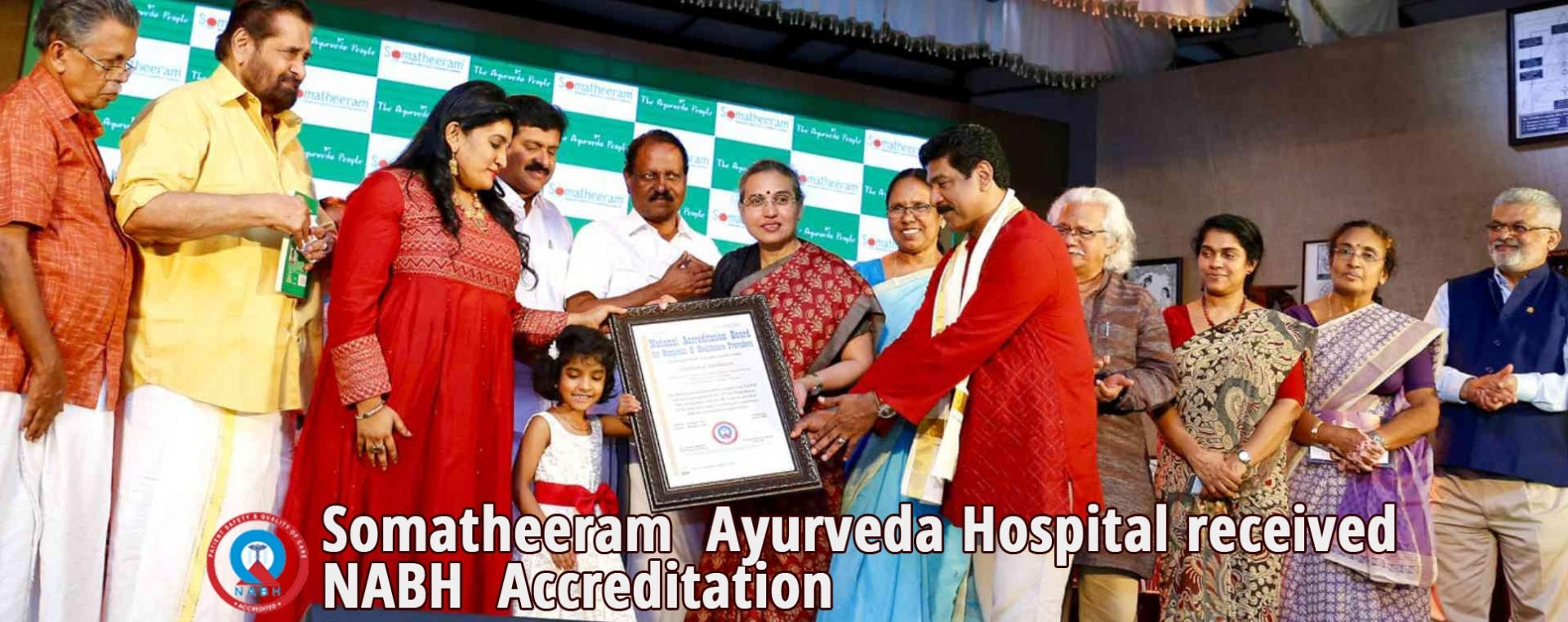Somatheeram  Ayurveda Hospital received NABH (National Accreditation Board for Hospitals and Health Care Providers) Accreditation